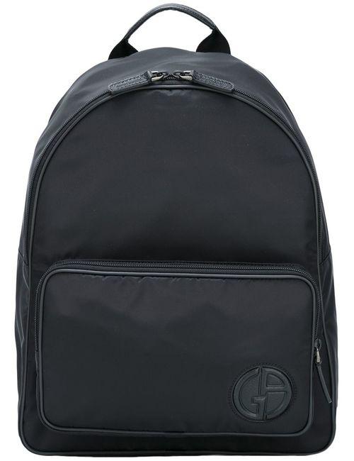 Giorgio Armani | Мужское Чёрный Logo Backpack