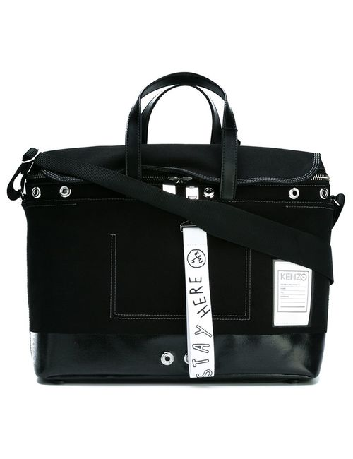 Kenzo   Чёрный Kanvas Messenger Bag Cotton/Leather/Metal