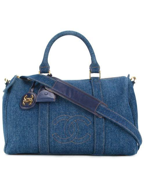 Chanel Vintage | Женское Синий 2way Boston Travel Bag