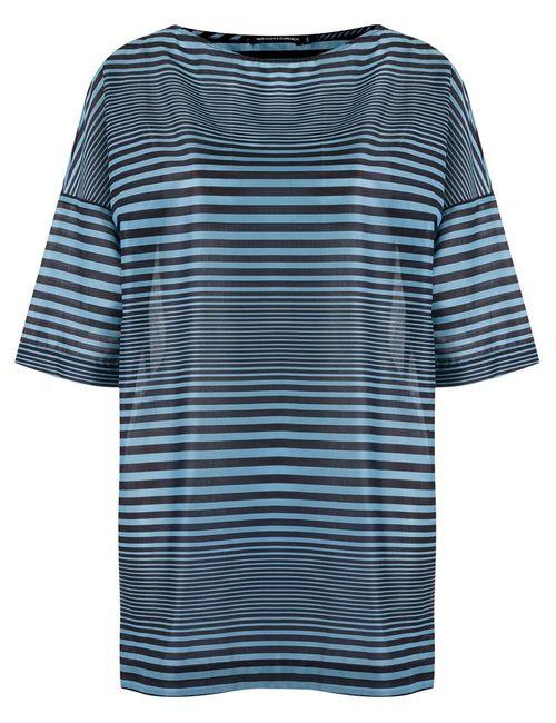 Reinaldo Lourenço | Женское Синий Striped Dress 36 Cotton