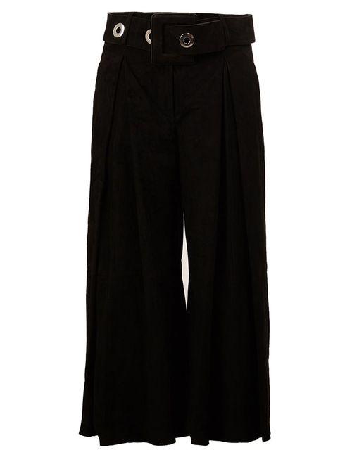 Drome | Женское Чёрный Belted Cropped Trousers Large Leather