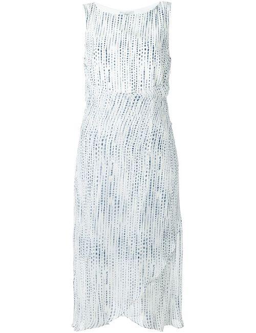 EGREY | Белый Printed Midi Dress 36 Silk