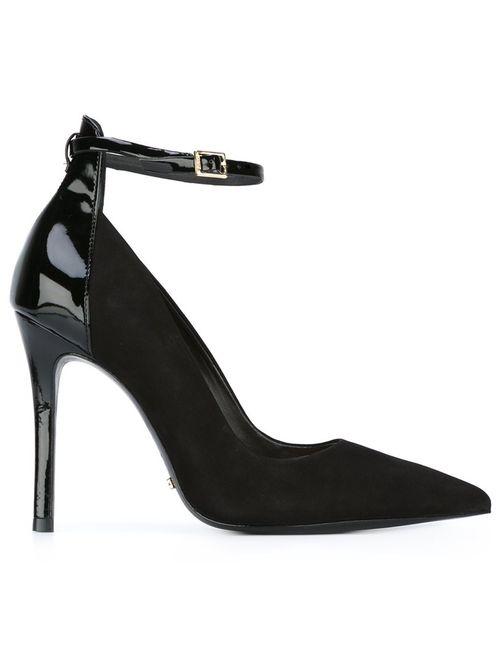 SCHUTZ | Чёрный Ankle Strap Stiletto Pumps 36 Leather/Suede