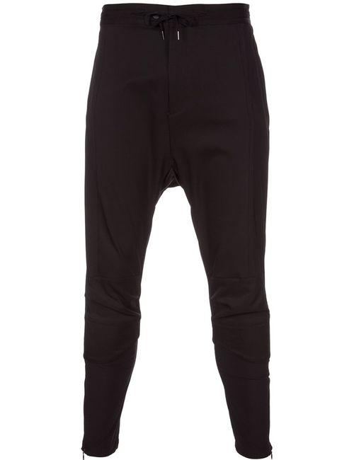 Yoshio Kubo | Черный Yk Biker Trousers 1 Nylon/Polyester/Polyurethane/Cotton
