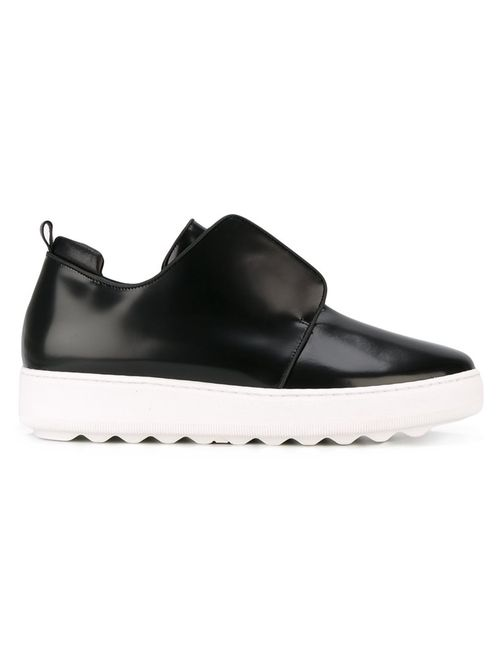 Philippe Model | Черный Slip-On Sneakers 40 Leather/Rubber