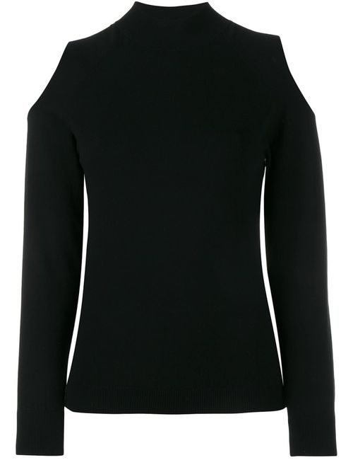 OSMAN | Женское Чёрный Cutout Knit Long Sleeve Top 10 Viscose