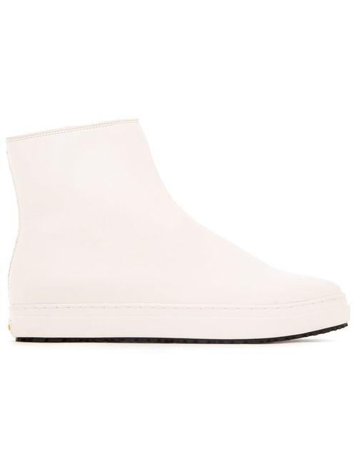 KAZUYUKI KUMAGAI | Белый Side Zip Ankle Boots 26 Leather