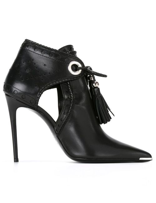Barbara Bui | Черный Ankle Tasseled Boots 37 Leather