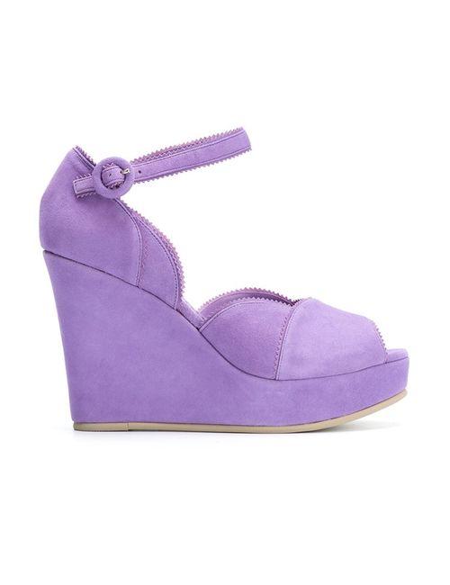 Sarah Chofakian | Розовый Platform Sandals 34 Goat Suede
