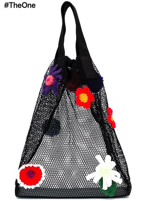 Christopher Kane | Женское Чёрный Crochet Flower Mesh Shopper