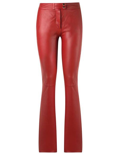 Tufi Duek | Женское Красный Straight Leg Trousers 42 Leather