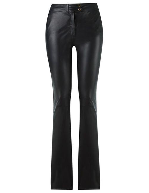 Tufi Duek | Женское Чёрный Straight Leg Trousers 42 Leather/Acetate