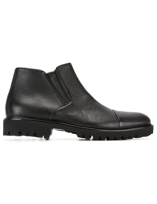 Baldinini | Мужское Чёрный Side Zip Boots 44 Leather/Rubber