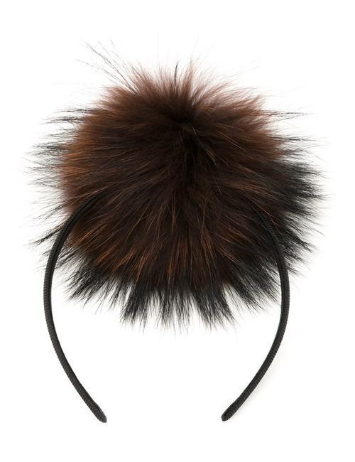 DRESS CAMP | Розовый Dresscamp Pom-Pom Headband Racoon Fur