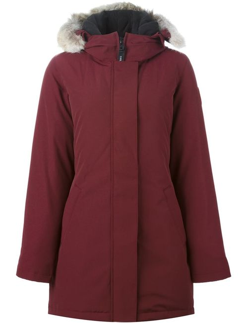 Canada Goose | Женское Красный Victoria Parka Large Cotton/Feather Down/Nylon/Coyote Fur