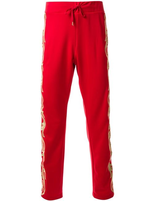 DRESS CAMP | Красный Dresscamp Embroide Track Pants 44 Polyester