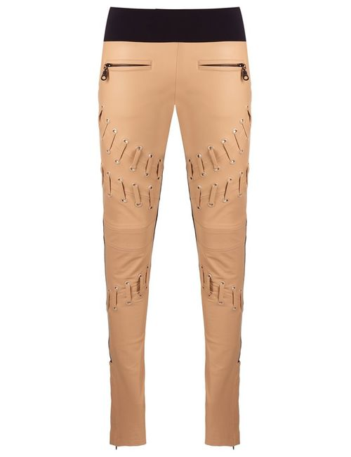 Andrea Bogosian | Женское Nude/Neutrals Skinny Trousers Medium Leather/Polyamide