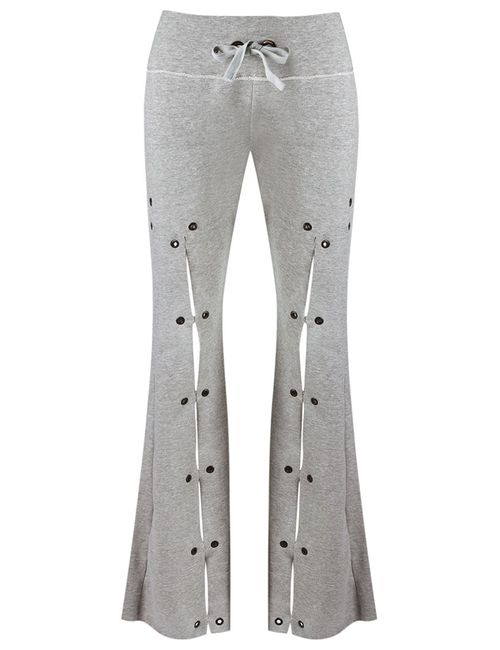 Andrea Bogosian | Серый Flared Trousers Pp Cotton/Polyester