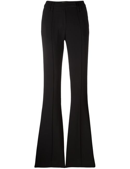 Plein Sud | Женское Чёрный Flared Trousers 36 Polyester/Spandex/Elastane/Viscose