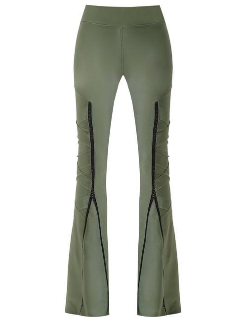 Andrea Bogosian | Женское Зелёный Flared Trousers G Polyamide/Spandex/Elastane