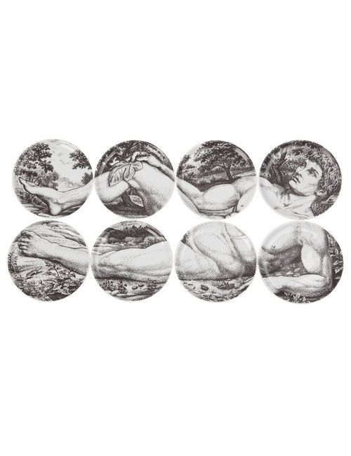 FORNASETTI | Серый Set Of Eight Coasters