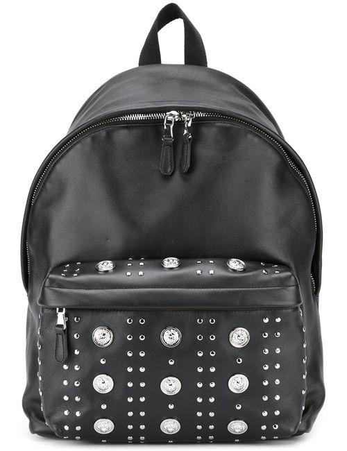 Versus | Мужское Чёрный Logo Plaque Backpack Leather
