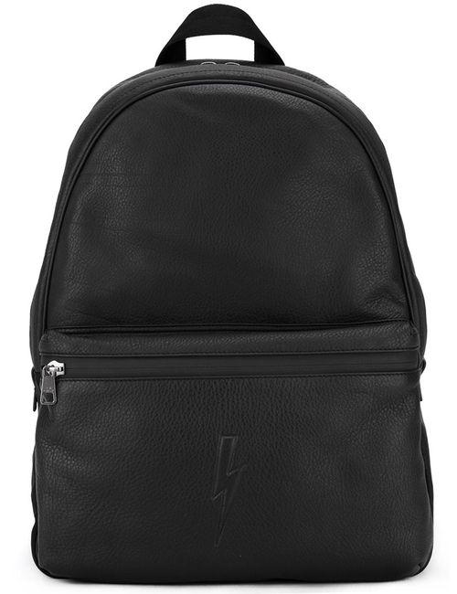 Neil Barrett | Мужское Чёрный Lightning Bolt Backpack Leather/Polyester