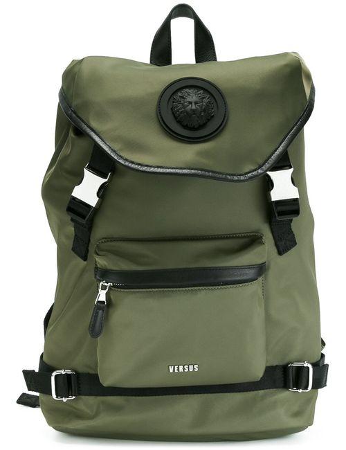Versus | Мужское Зелёный Drawstring Backpack Nylon