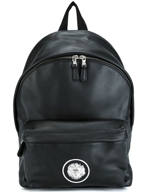 Versus | Мужское Чёрный Logo Plaque Backpack Leather/Polyamide