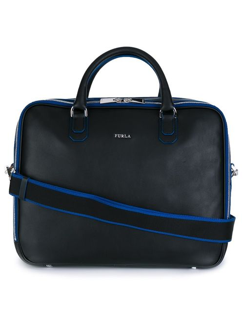Furla | Мужское Чёрный Argo Backpack Briefcase Leather