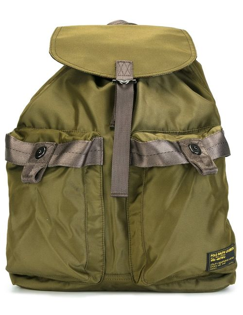Polo Ralph Lauren | Мужское Зелёный Drawstring Backpack Nylon/Polyester