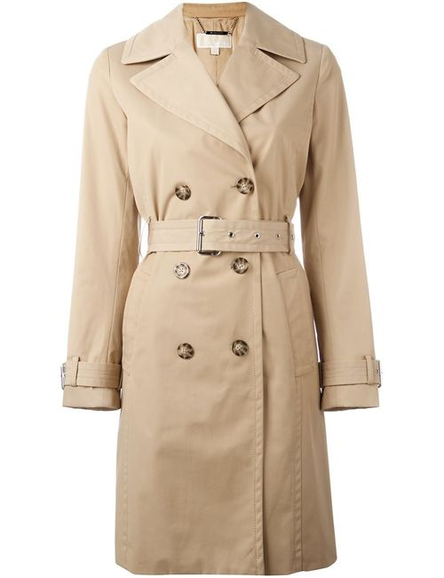 Michael Michael Kors | Nude/Neutrals Midi Trench Coat 2 Cotton/Polyester/Acetate