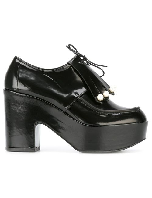 Robert Clergerie | Чёрный Vally Pumps 38 Leather/Rubber
