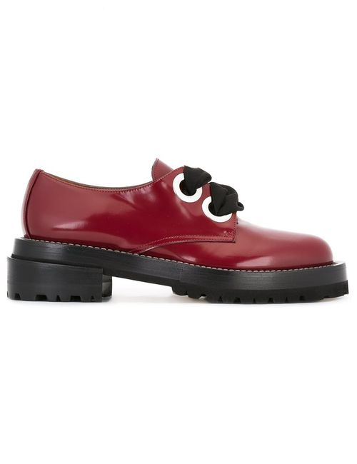 Marni | Женское Красный Lace-Up Oxfords 38 Calf Leather/Leather/Rubber