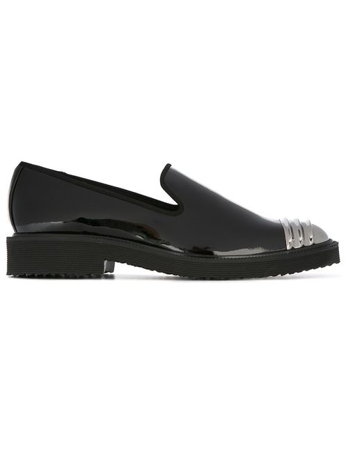 Giuseppe Zanotti Design | Чёрный Patent Loafers 40 Leather/Patent Leather/Metal/Rubber