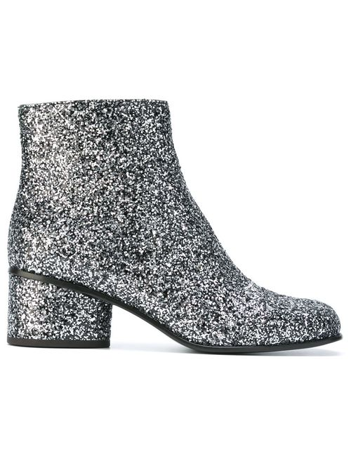 Marc Jacobs | Серебристый Camilla Glitter Ankle Boots 40 Leather/Pvc