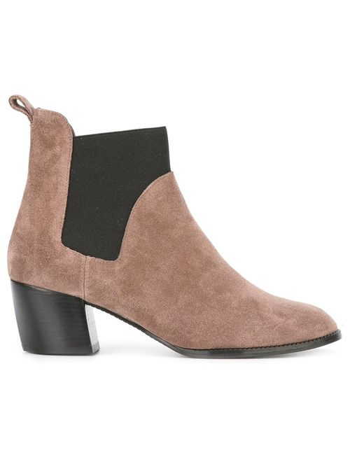 Robert Clergerie | Nude/Neutrals Marty Boots 38 Leather/Suede