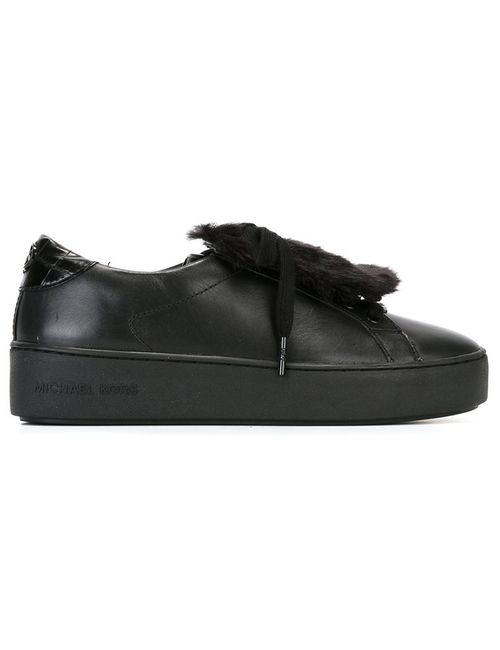 Michael Michael Kors | Черный Rabbit Fur Detail Sneakers 6