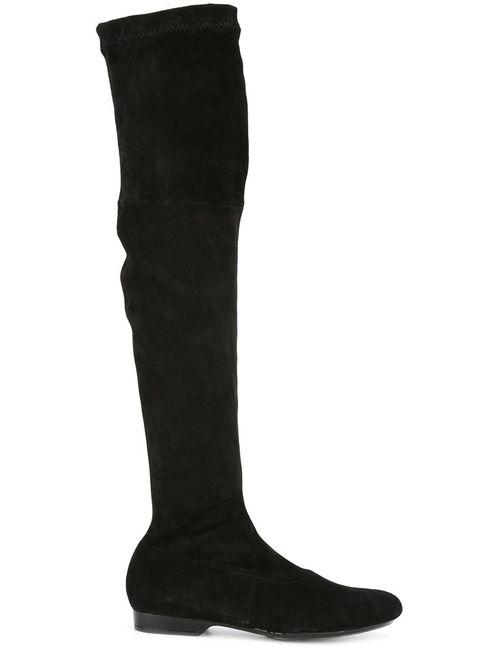 Robert Clergerie | Чёрный Fissal Boots 37.5 Leather/Suede