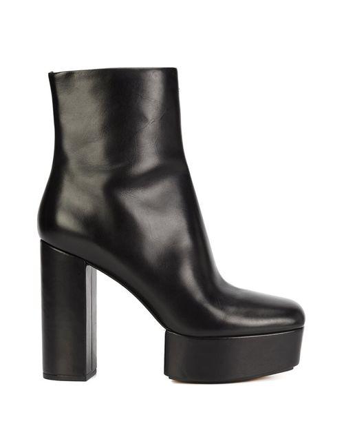 Alexander Wang | Чёрный Cora Ankle Boots 38.5 Leather