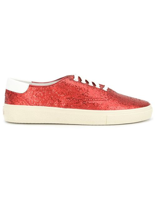 Saint Laurent | Мужское Красный Court Classic Sneakers 41 Leather/Sequin/Rubber