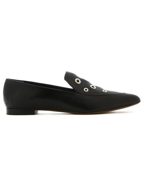 Proenza Schouler | Женское Чёрный Grommet Embellished Loafers 35 Leather
