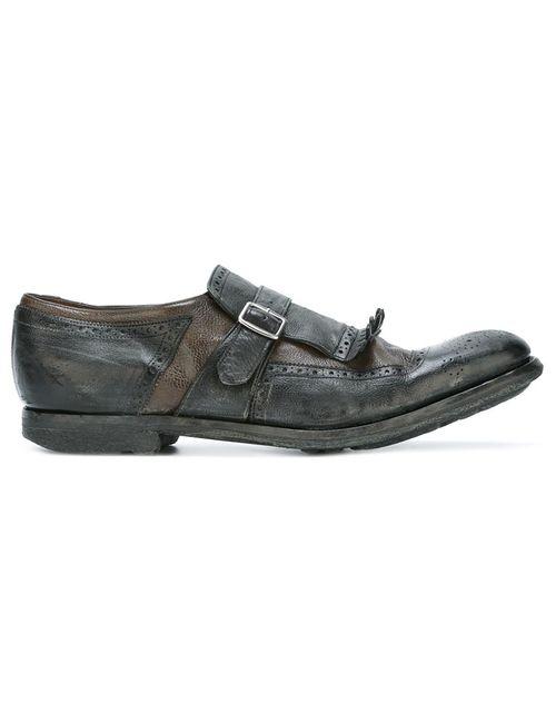Church'S | Мужское Серый Kilties Detail Monk Shoes 8.5 Leather/Rubber