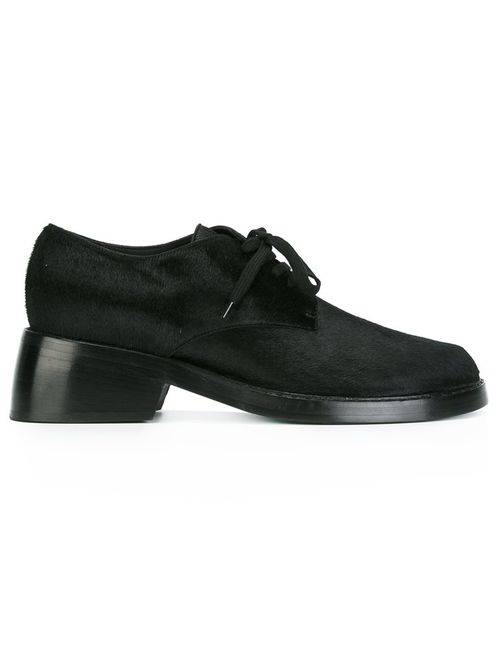 Ann Demeulemeester | Чёрный Blanche Lace Up Shoes 40 Leather/Calf