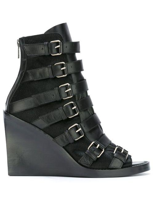 Ann Demeulemeester | Черный Blanche Buckled Straps Boots 38 Leather/Calf