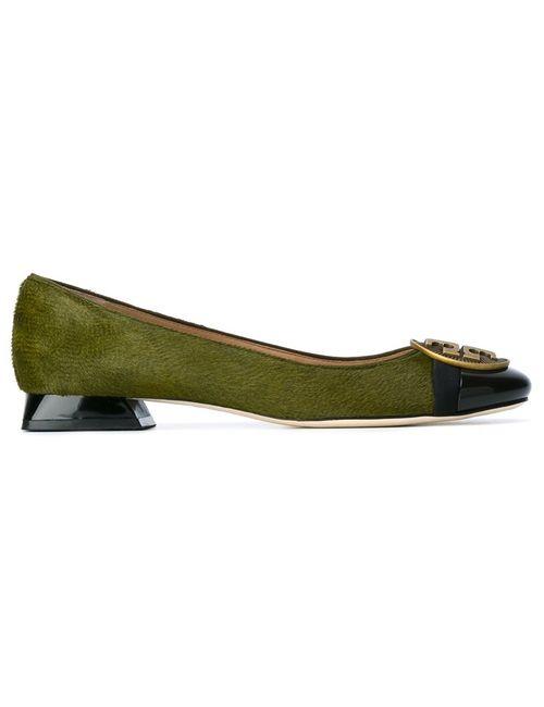 Tory Burch | Зелёный Alastair Ballerinas 8.5 Leather/Calf Hair