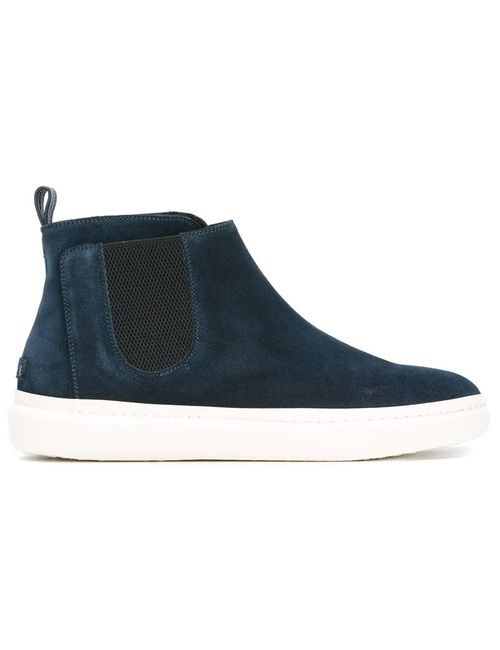 Leather Crown | Мужское Синий Chelsea Boots 41 Leather/Suede/Merino/Rubber