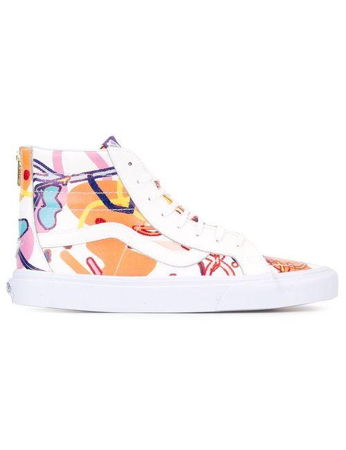 SANKUANZ | Lace-Up Hi-Top Sneakers Adult Unisex 38 Cotton/Leather/Rubber