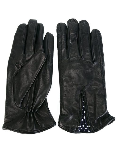 Fefè | Синий Leather Gloves Adult Unisex Leather/Cashmere