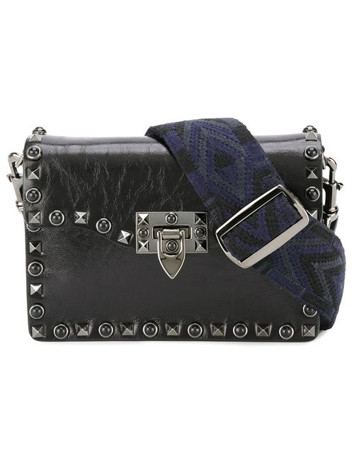 Valentino | Женское Чёрный Rockstud Rolling Shoulder Bag